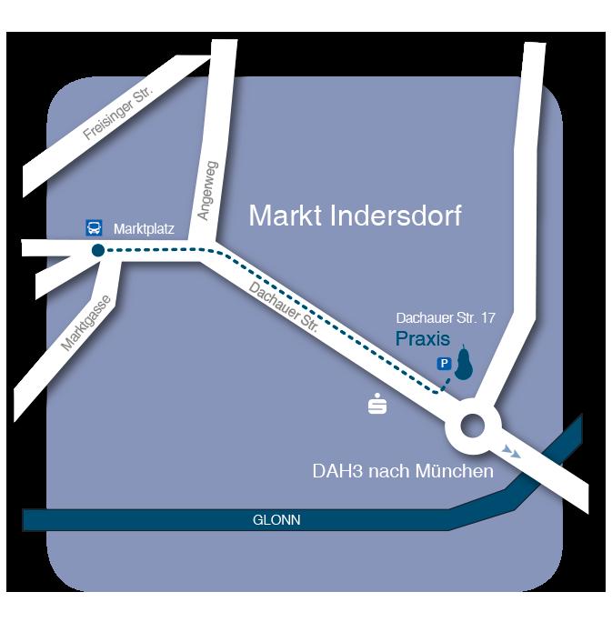 Kieferorthopaedie-Tischer-Odintov-Anfahrt_Kontakt-Markt-Indersdorf
